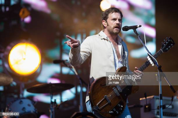 Caleb Followill of Kings of Leon headlines and performs on stage on Day 2 of BBC Radio 1's Big Weekend 2017 at Burton Constable Hall on May 28 2017...