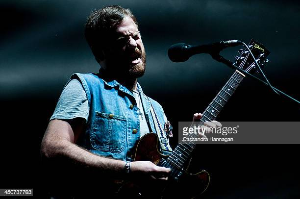 Caleb Followill of Kings Of Leon perform live for fans at Enmore Theatre on November 20 2013 in Sydney Australia
