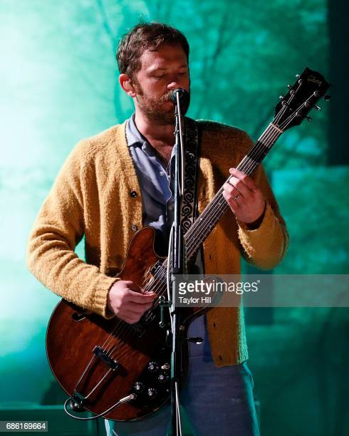 Caleb Followill of Kings of Leon performs at PNC Bank Arts Center on May 20 2017 in Holmdel New Jersey