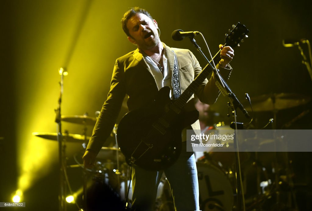 Caleb Followill of Kings of Leon performs during the Okeechobee Music Festival on March 5, 2017 in Okeechobee, Florida.