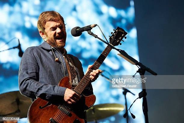 Caleb Followill of Kings of Leon performs live on stage during the first day of the Lollapalooza Berlin music festival at Treptower Park on September...
