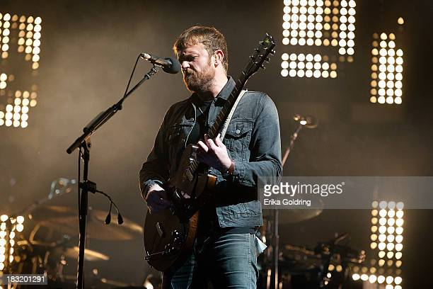 Caleb Followill of Kings of Leon performs on Day 2 of Austin City Limits Festival at Zilker Park on October 5, 2013 in Austin, Texas.