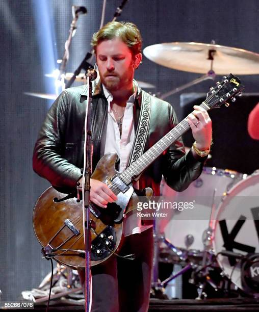 Caleb Followill of Kings of Leon performs onstage during the 2017 iHeartRadio Music Festival at TMobile Arena on September 23 2017 in Las Vegas Nevada