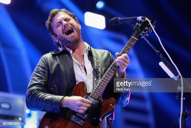 Caleb Followill of music group Kings of Leon performs onstage during the 2017 iHeartRadio Music Festival at TMobile Arena on September 23 2017 in Las...