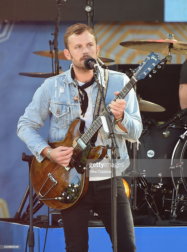 Caleb Followill of the band Kings of Leon perform On ABC's 'Good Morning America' at Rumsey Playfield, Central Park on July 25, 2014 in New York City.