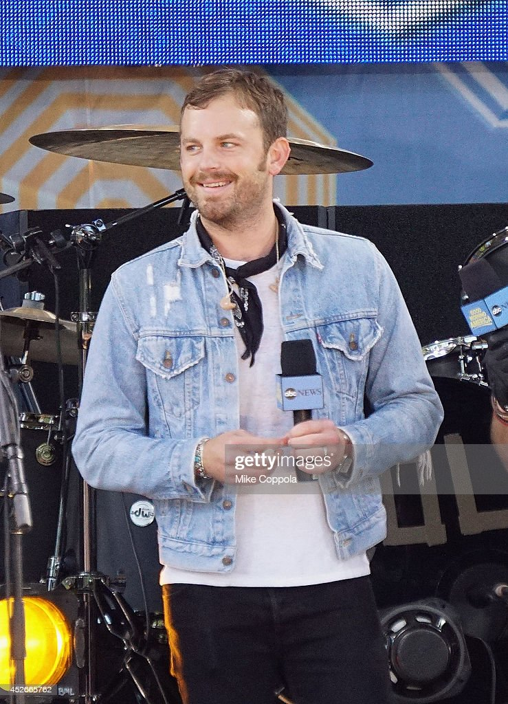 Caleb Followill of the band Kings of Leon performs On ABC's 'Good Morning America' at Rumsey Playfield, Central Park on July 25, 2014 in New York City.