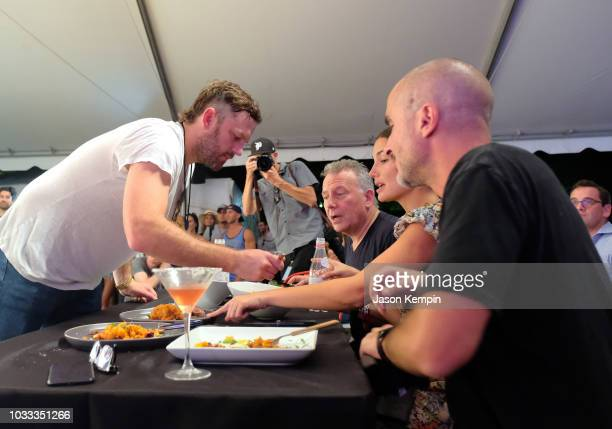 Caleb Followill Paul Reiser Lily Aldridge and Zane Lowe attend the Music City Food Wine Festival's Friday Night Throwdown at Bicentennial Capitol...