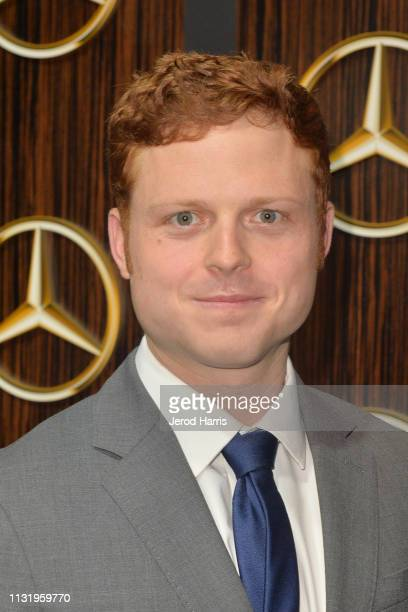 Caleb Foote arrives at MercedesBenz USA's Oscars Viewing Party at Four Seasons Hotel Los Angeles at Beverly Hills on February 24 2019 in Los Angeles...