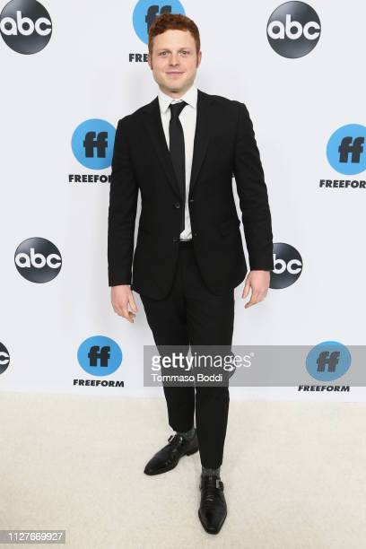 Caleb Foote attends the Disney ABC Television Hosts TCA Winter Press Tour 2019 at The Langham Huntington Hotel and Spa on February 05 2019 in...