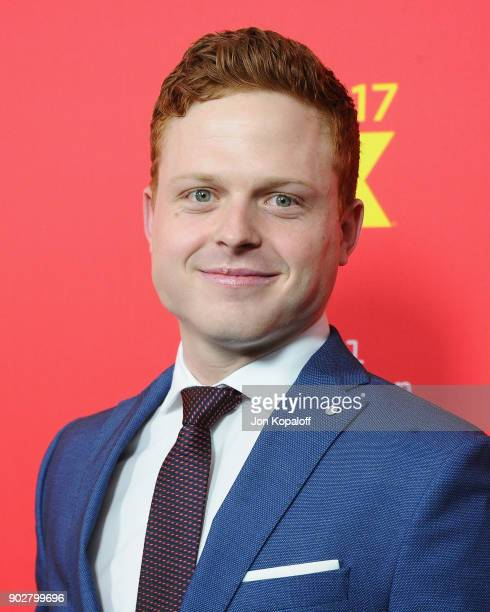 Caleb Foote attends the Los Angeles Premiere 'The Assassination Of Gianni Versace American Crime Story' at ArcLight Hollywood on January 8 2018 in...
