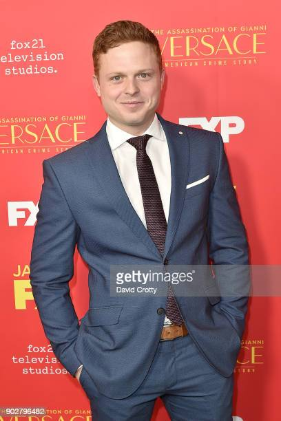 Caleb Foote attends the Premiere Of FX's 'The Assassination Of Gianni Versace American Crime Story' Arrivals at ArcLight Hollywood on January 8 2018...