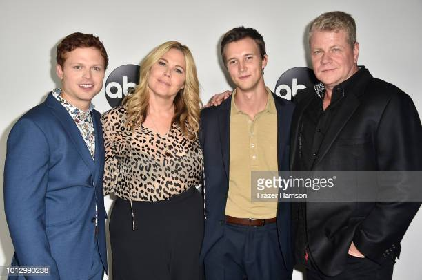 Caleb Foote Mary McCormack Sam Straley and Michael Cudlitz attend the Disney ABC Television TCA Summer Press Tour at The Beverly Hilton Hotel on...