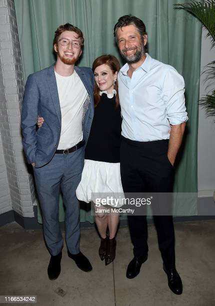 """Caleb Freundlich, Julianne Moore and director Bart Freundlich, attend the """"After The Wedding"""" New York Screening After Party at Hotel 50 Bowery..."""