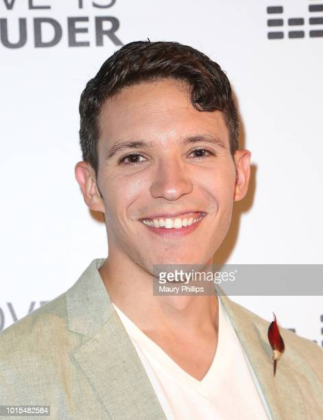 Caleb J Spivak attends Chaz Dean Summer Party 2018 Benefiting Love is Louder on August 11 2018 in Los Angeles California