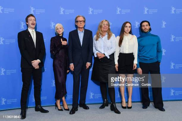 Caleb Landry Jones Andrea Riseborough Bill Nighy Lone Scherfig Zoe Kazan and Tahar Rahim pose at the The Kindness Of Strangers photocall during the...