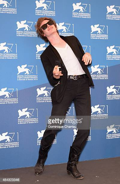 Caleb Landry Jones attends the 'Heaven Knows What' photocall during the 71st Venice Film Festival on August 29 2014 in Venice Italy