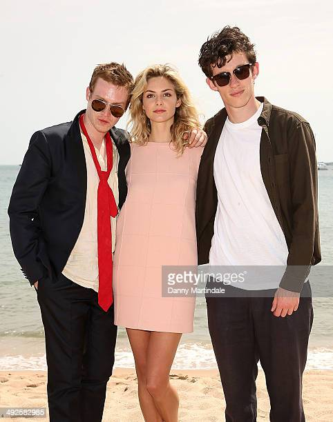 Caleb Landry Jones Callum Turner and Tamsin Egerton attend the 'Queen Country' photocall at the 67th Annual Cannes Film Festival on May 21 2014 in...