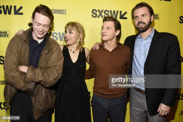 Caleb Landry Jones Imogen Poots Tye Sheridan AJ Edwards attend the premiere of Friday's Child at the Paramount Theatre on March 11 2018 in Austin...