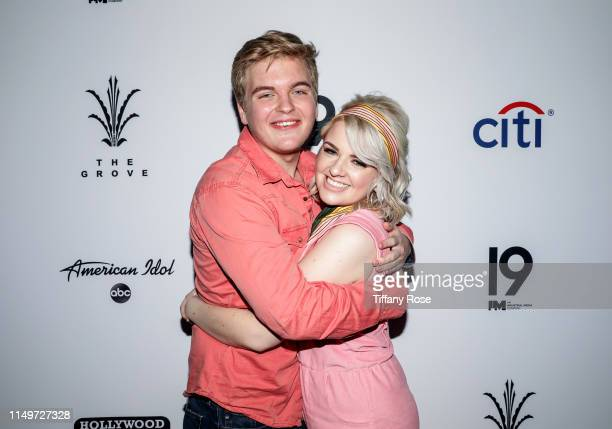 Caleb Lee Hutchinson and Maddie Poppe attend Citi Presents Maddie Poppe Live At The Grove on May 16 2019 in Los Angeles California