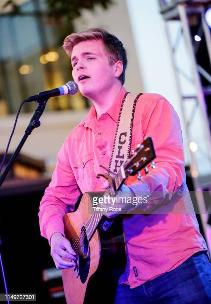 Caleb Lee Hutchinson performs onstage at Citi Presents Maddie Poppe Live At The Grove on May 16 2019 in Los Angeles California
