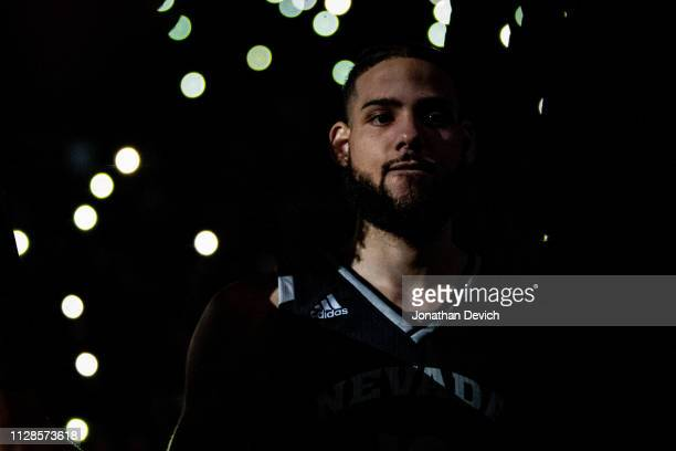 Caleb Martin of the Nevada Wolf Pack is introduced as he walks onto the court for the game against the New Mexico Lobos at Lawlor Events Center on...