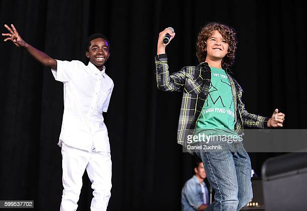 Caleb McLaughlin and Gaten Matarazzo perform during the 2nd Annual Elsie Fest at Ford Amphitheater at Coney Island Boardwalk on September 5 2016 in...