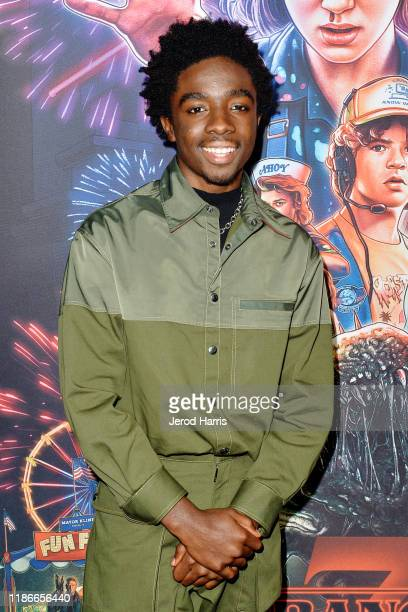 Caleb McLaughlin arrives at Netflix's 'Stranger Things' Season 3 Photocall at Linwood Dunn Theater at the Pickford Center for Motion Study on...