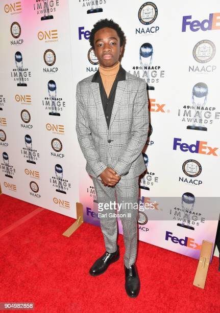 Caleb McLaughlin at the 49th NAACP Image Awards NonTelevised Awards Dinner at the Pasadena Conference Center on January 14 2018 in Pasadena California