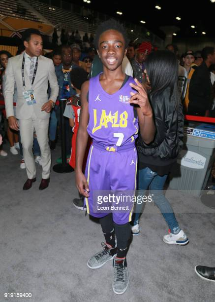 Caleb McLaughlin at The NBA AllStar Celebrity Game 2018 Presented By Ruffles at Verizon Up Arena at LACC on February 16 2018 in Los Angeles California