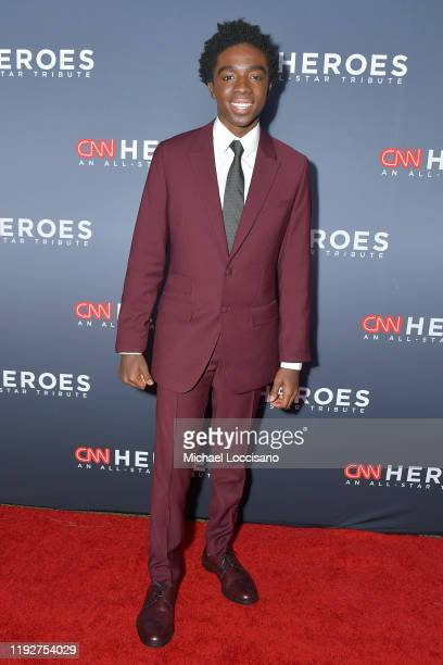 Caleb Mclaughlin attends CNN Heroes at the American Museum of Natural History on December 08, 2019 in New York City.