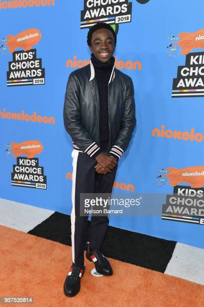 Caleb McLaughlin attends Nickelodeon's 2018 Kids' Choice Awards at The Forum on March 24 2018 in Inglewood California