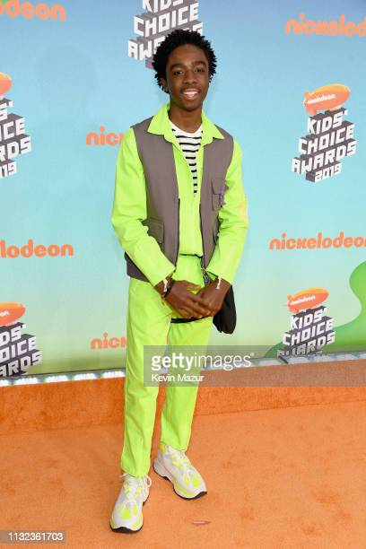 Caleb McLaughlin attends Nickelodeon's 2019 Kids' Choice Awards at Galen Center on March 23 2019 in Los Angeles California