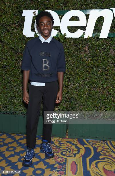Caleb McLaughlin attends Teen Vogue's Young Hollywood Party Presented By Snap at Los Angeles Theatre on February 15 2019 in Los Angeles California