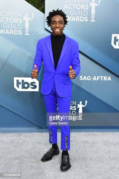 Caleb McLaughlin attends the 26th Annual Screen ActorsGuild Awards at The Shrine Auditorium on January 19, 2020 in Los Angeles, California.