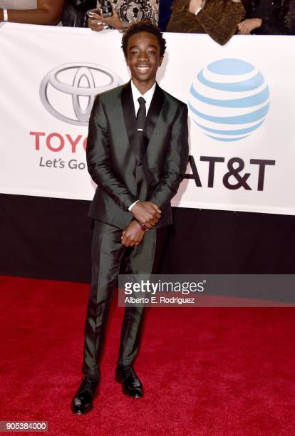 Caleb McLaughlin attends the 49th NAACP Image Awards at Pasadena Civic Auditorium on January 15 2018 in Pasadena California