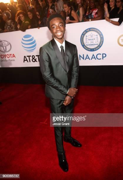 Caleb McLaughlin attends the 49th NAACP Image Awards at Pasadena Civic Auditorium on January 15 2018 in Pasadena California