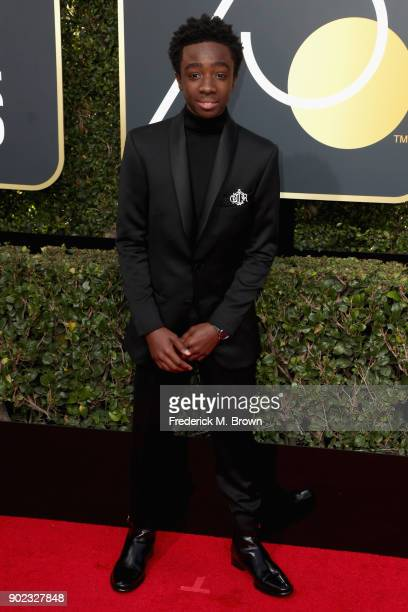 Caleb McLaughlin attends The 75th Annual Golden Globe Awards at The Beverly Hilton Hotel on January 7 2018 in Beverly Hills California