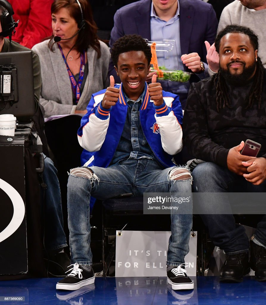 Caleb McLaughlin attends the Memphis Grizzlies Vs New York Knicks game at Madison Square Garden on December 6, 2017 in New York City.