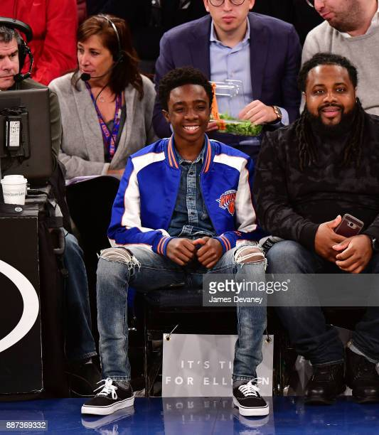 Caleb McLaughlin attends the Memphis Grizzlies Vs New York Knicks game at Madison Square Garden on December 6 2017 in New York City