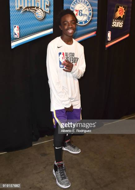 Caleb McLaughlin attends the NBA AllStar Celebrity Game 2018 at Verizon Up Arena at LACC on February 16 2018 in Los Angeles California