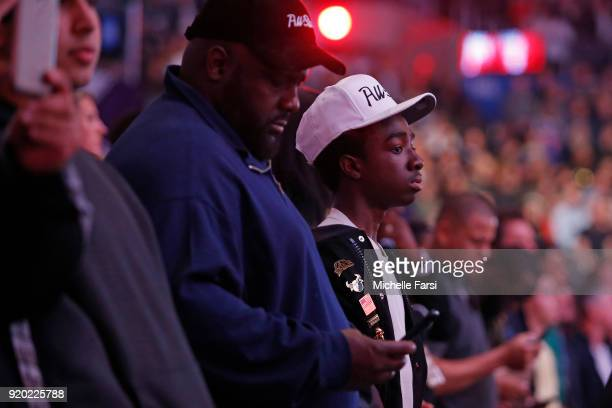 Caleb McLaughlin attends the NBA AllStar Game as a part of 2018 NBA AllStar Weekend at STAPLES Center on February 18 2018 in Los Angeles California...