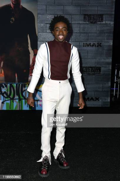 """Caleb McLaughlin attends the premiere of Columbia Pictures' """"Bad Boys For Life"""" at TCL Chinese Theatre on January 14, 2020 in Hollywood, California."""