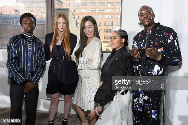 Caleb McLaughlin Larsen Thompson Tiffany Hwang Kehlani and young paris attend the 31 Phillip Lim fashions show during New York Fashion Week The Shows...