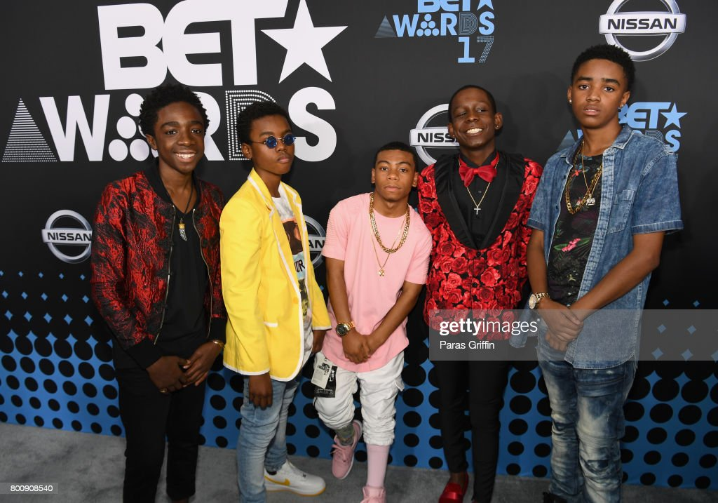 Caleb McLaughlin, Myles Truitt, Dante Hoagland, Tyler Marcel Williams and Jahi Di'Allo Winston at the 2017 BET Awards at Staples Center on June 25, 2017 in Los Angeles, California.