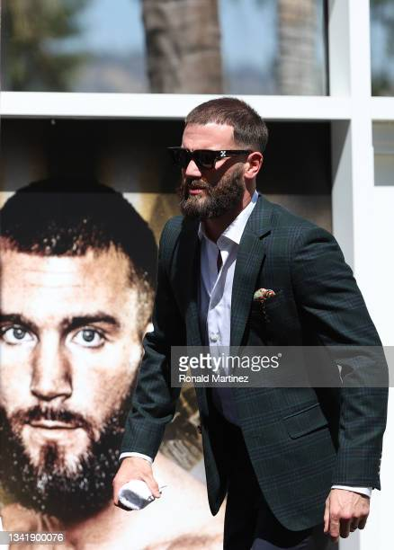 Caleb Plant during a press conference ahead of his super middleweight fight with Canelo Alvarez on November 6 at The Beverly Hilton on September 21,...