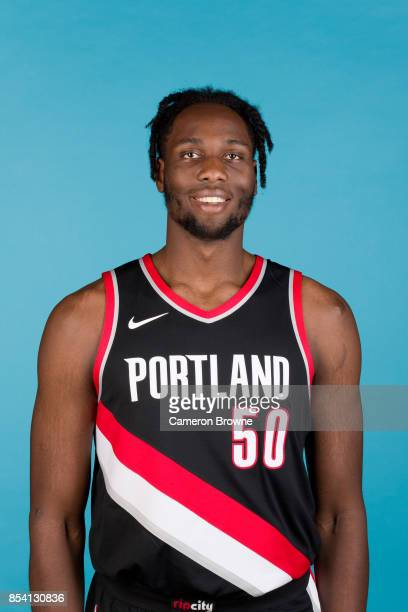 Caleb Swanigan of the Portland Trail Blazers poses for a head shot during media day on September 25 2017 at the Moda Center Arena in Portland Oregon...