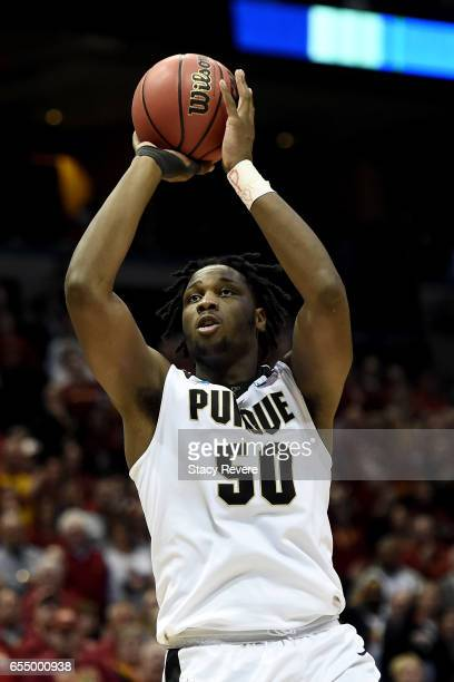 Caleb Swanigan of the Purdue Boilermakers attempts a shot in the second half against the Iowa State Cyclones during the second round of the 2017 NCAA...