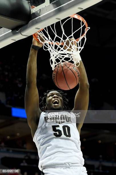 Caleb Swanigan of the Purdue Boilermakers dunks the ball in the second half against the Iowa State Cyclones during the second round of the 2017 NCAA...