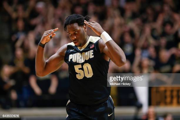 Caleb Swanigan of the Purdue Boilermakers is seen during the game against the Michigan State Spartans at Mackey Arena on February 18 2017 in West...