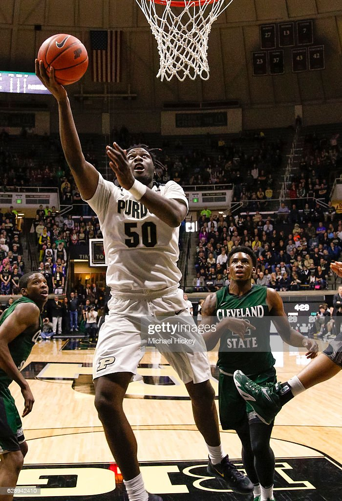 Caleb Swanigan #50 of the Purdue Boilermakers shoots the ball against the Cleveland State Vikings at Mackey Arena on December 10, 2016 in West Lafayette, Indiana.